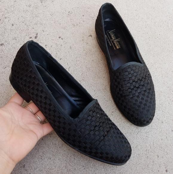 a6d392e27a2 Neiman Marcus Black Woven Men's Dress Loafers S3